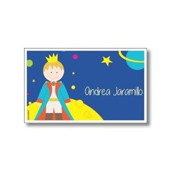 p9110 Label cards - Space rocket
