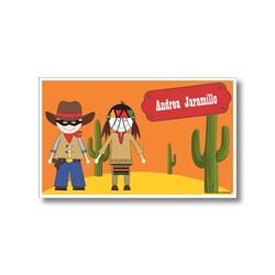 Label cards - The lone ranger