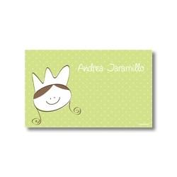 p7501 verde - Tarjetas de presentación - Princesas