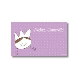 p7501 violeta - Tarjetas de presentación - Princesas