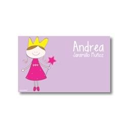 p7110 violeta - Tarjetas de presentación - Princesas