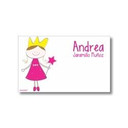 p7110 blanco - Tarjetas de presentación - Princesas