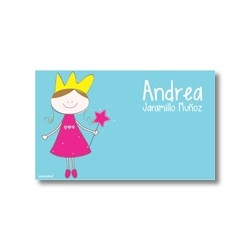 p7110 azul - Tarjetas de presentación - Princesas