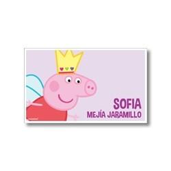 Tarjetas de presentación - peppa pig