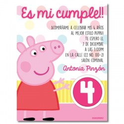 c0233 - Birthday invitations - peppa pig