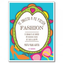 c0289 - Birthday invitations - fashion