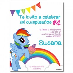c0295 - Birthday invitations - My little Ponny