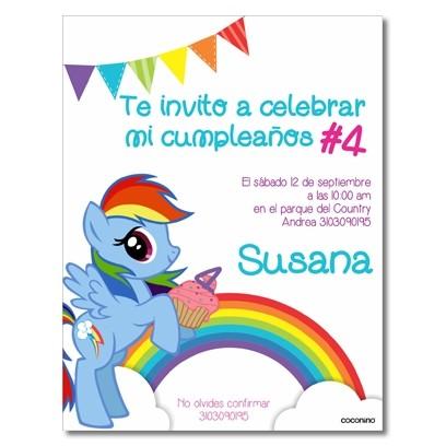 c0295 - Birthday invitations - My little Ponny