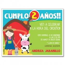 c0302 - Birthday invitations - Farm