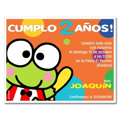 c0298 - Birthday invitations - keroppi