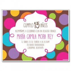c0313 - Birthday invitations - 15 years