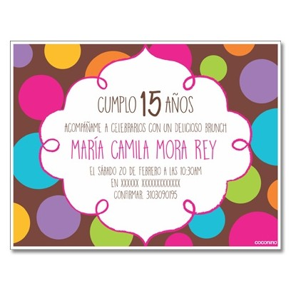 c0312 - Birthday invitations - 15 years