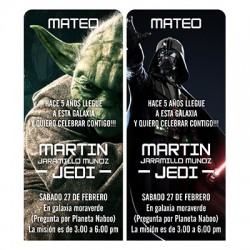 c0316 - Birthday invitations - Star Wars