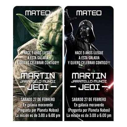 c0316 - Birthday invitations - Star Wars