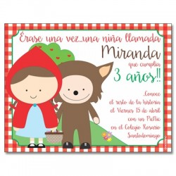 c0317 - Birthday invitations - Little red riding hood