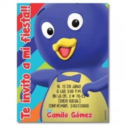 c0320 - Birthday invitations - backyardigans