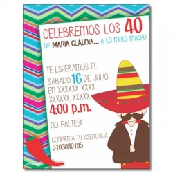 c0328 - Birthday invitations - Catrinas - Mexico
