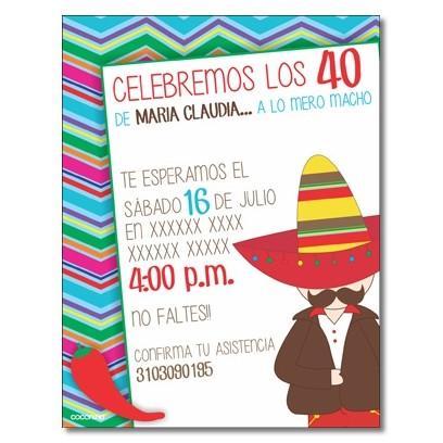 c0328 - Birthday invitations - Catrinas - Mexico