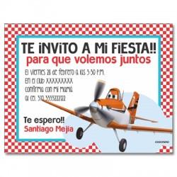 Invitaciones de cumpleaños - Aviones