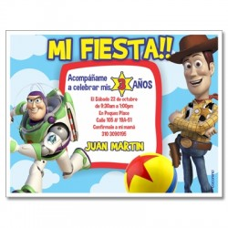 c0339 - Birthday invitations - Toy Story