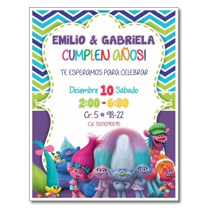 c0350 - Birthday invitations - Superheros