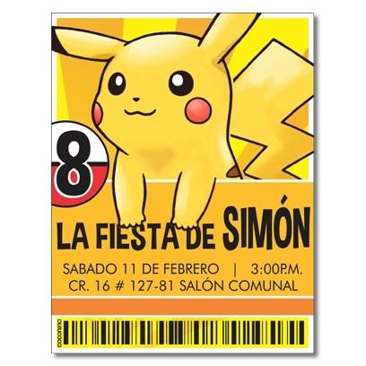 c0360 - Birthday invitations - Pokemon