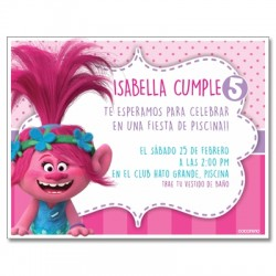 c0351 - Birthday invitations - Trolls