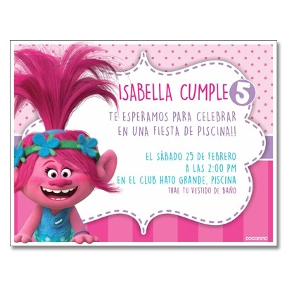 c0351 - Birthday invitations - Trolls