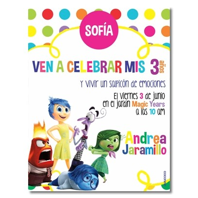 Birthday invitations - Inside Out