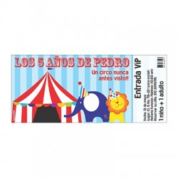 c0368 - Birthday invitations - Circus