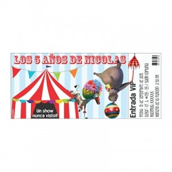 Birthday invitations - Circus
