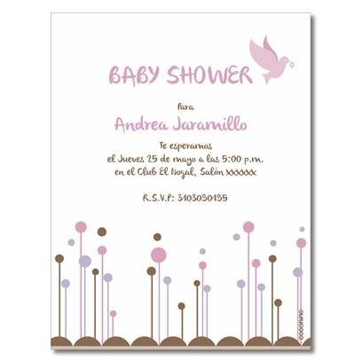 b0007 - Invitaciones - Baby Shower