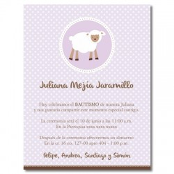 Baptism Invitations - Sheep