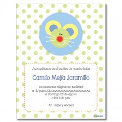 Invitations Baptism - Bird
