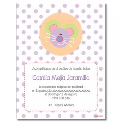 Invitations Baptism - Mouse