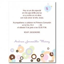 First Communion Invitations  - Bird