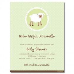 b0010 S Verde - Invitaciones - baby shower