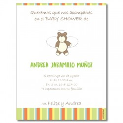 b0011 S - Invitaciones - Baby Shower