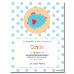 b0015 S Azul- Invitaciones - Baby Shower