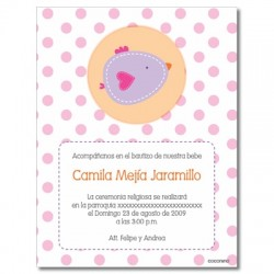 b0015 S Rosado - Invitaciones - Baby Shower