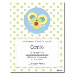 b0016 S Verde - Invitaciones - Baby Shower