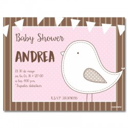 b0036 S Rosado - Invitaciones - Baby Shower