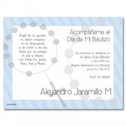 b0020 B Azul - Invitaciones - Bautizo