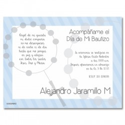 b0019 B Blue - Invitations - Baptism