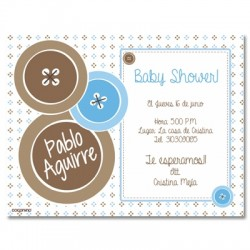 b0019 S - Invitaciones - Baby Shower