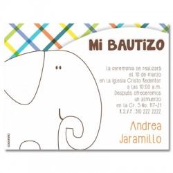 b0056 B Azul - Invitaciones - Bautizo
