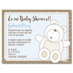b0035 S Azul - Invitaciones - Baby Shower