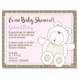 b0035 S Rosado - Invitaciones - Baby Shower