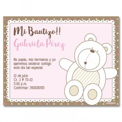 b0036 B Blue - Invitations - Baptism