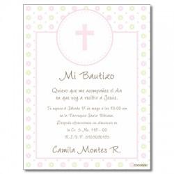 b0021 B Pink - Invitations Baptism
